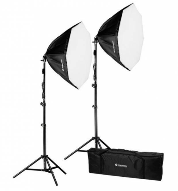 BRESSER BR-2860 LED Softbox-Tageslichtset 2x50W