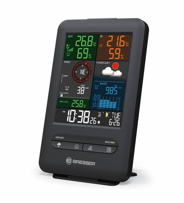 BRESSER zusätzliche Basisstation für 7002525 Wetter-Center 5-in-1 Beaufort