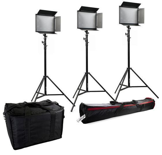 BRESSER SH-1200 LED Set (3x LED und 3x Stativ)