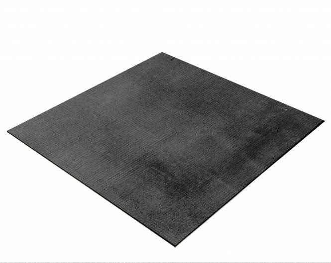 BRESSER Flatlay Hintergrund für Legebilder 40x40cm Stoff schwarz/grau