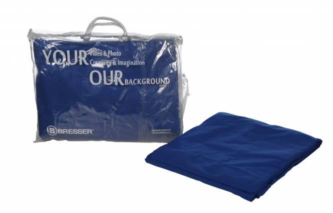 BRESSER Y-9 Hintergrundtuch 2,5x3m Chromakey Blau