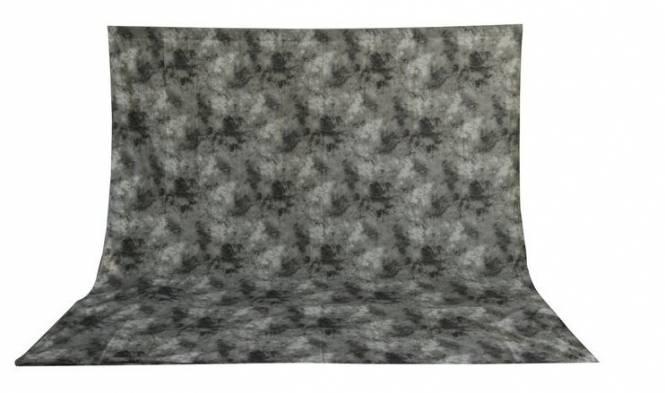 BRESSER BR-6109 waschbares Hintergrundtuch mit Muster 3x6m