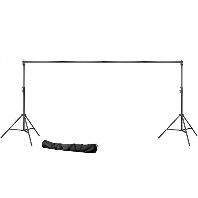 BRESSER BR-D37 Hintergrundsystem 300x360cm breit Heavy duty