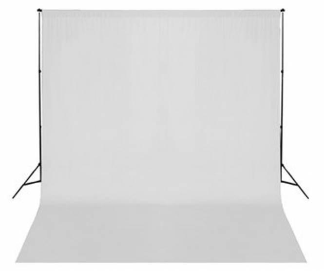 BRESSER BR-D26 Hintergrundsupport + Hintergrundtuch weiß 3x6m