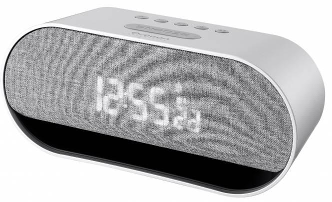 Oregon Scientific Wecker mit integriertem Bluetooth Stereo-Lautsprecher und Smartphone-Ladefunktion