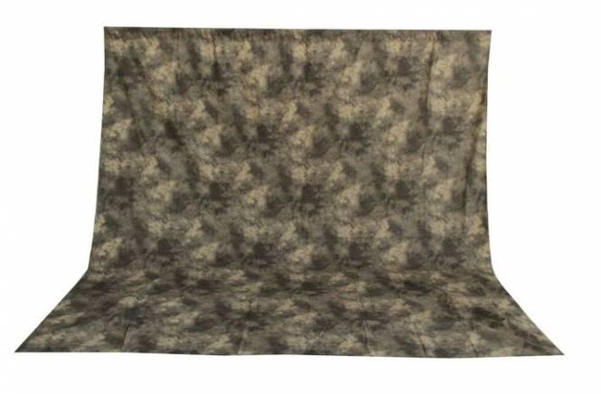 BRESSER BR-6101 waschbares Hintergrundtuch mit Muster 3x6m