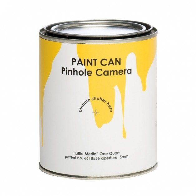 Paint Can Little Merlin Lochkamera