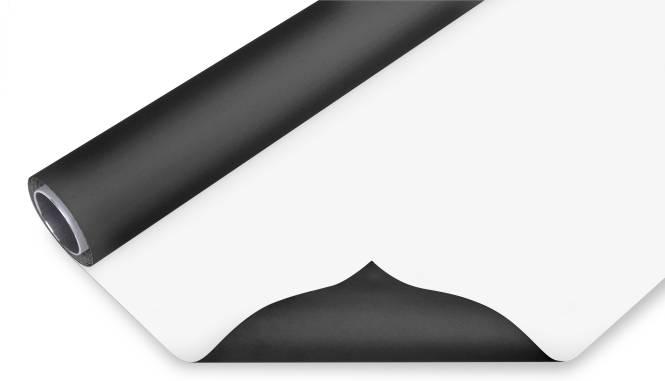 BRESSER Vinyl Hintergrundrolle 2x3m schwarz/weiß
