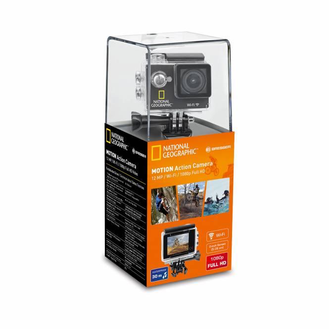 NATIONAL GEOGRAPHIC Full-HD WLAN Action Camera, 140°, 30m wasserdicht