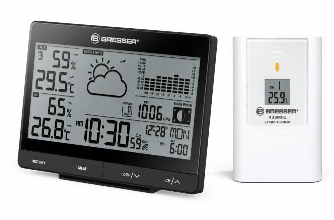 BRESSER Tendence WSX Funkwetterstation mit 24h-Luftdruckdiagramm