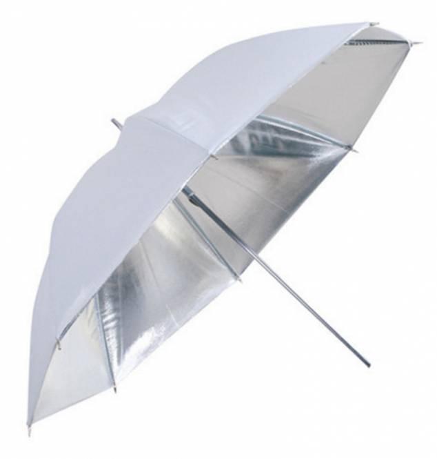 BRESSER SM-04 Reflexschirm weiß/silber 83cm
