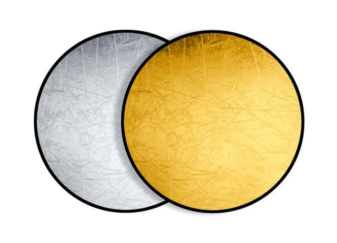 BRESSER BR-TR5 2-in-1 Faltreflektor gold/silber 110cm rund