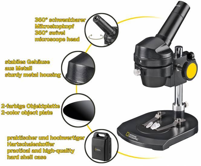 NATIONAL GEOGRAPHIC Auflichtmikroskop 20x