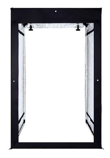BRESSER BR-PHT200 extra großes Lichtzelt / Softbox 200x120x100 cm mit LED Beleuchtung