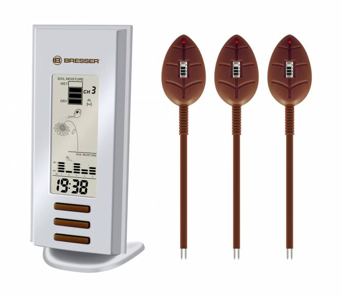 BRESSER Gießmelder mit 3 Sensoren