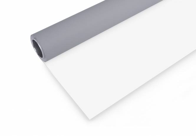 BRESSER Vinyl Hintergrundrolle 2,72x6m grau/weiß