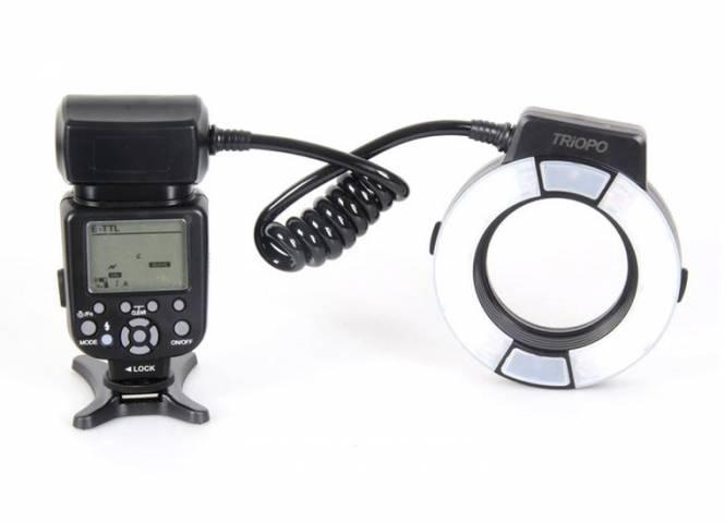 Triopo TR-15EX C TTL Ringblitz für Canon