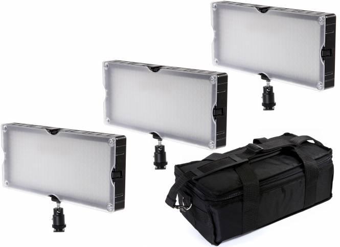 BRESSER SL-360 LED Flächenleuchten 3er Set