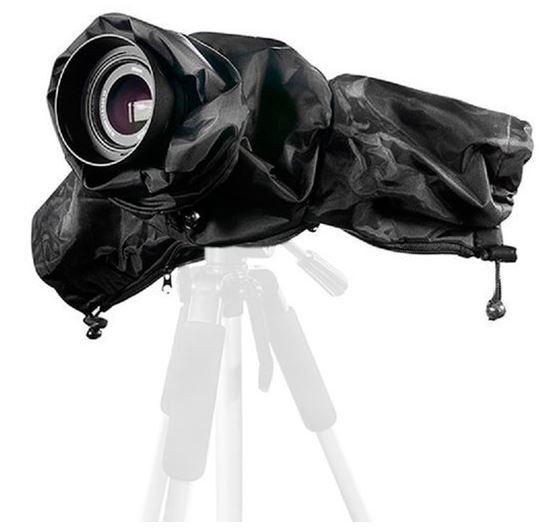 BRESSER BR-RC15 wasserdichte Regenhülle für DSLR Kameras