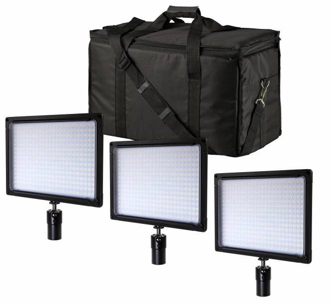 BRESSER SH-360A Bi-Color LED Flächenleuchten 3er Set