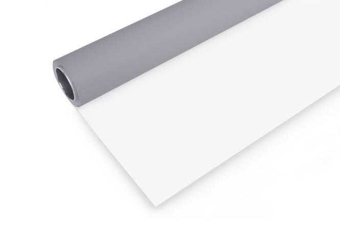 BRESSER Vinyl Hintergrundrolle 2x6m grau/weiß