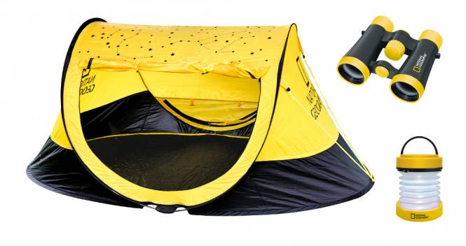 NATIONAL GEOGRAPHIC Outdoor Set (Zelt, 4x30 Fernglas, Laterne)