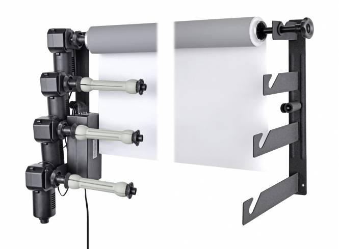 BRESSER MB-4Y Elektrische Wandhalterung für 4 Papierhintergrundrollen