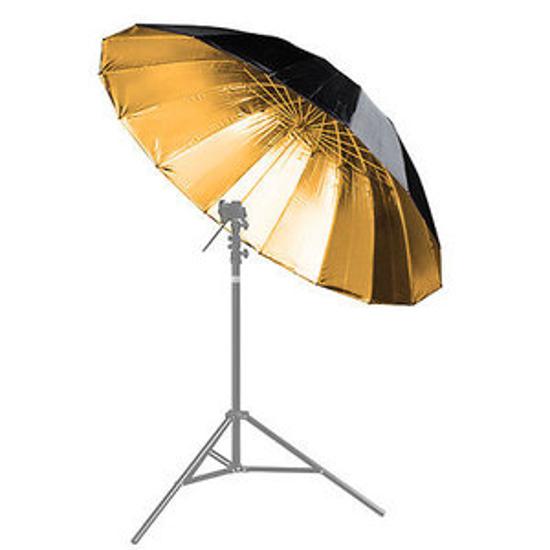 BRESSER BR-BG150 Reflexschirm schwarz/gold 150cm