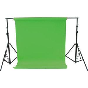 BRESSER D-36 Hintergrundsystem + Hintergrundpapierrolle 2,72x11m chromakey-grün