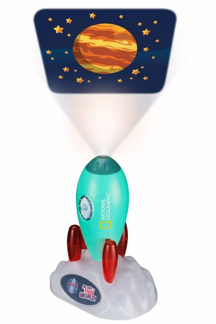 NATIONAL GEOGRAPHIC 3-in-1-Weltraum-Projektor mit Taschenlampe und Nachtlicht