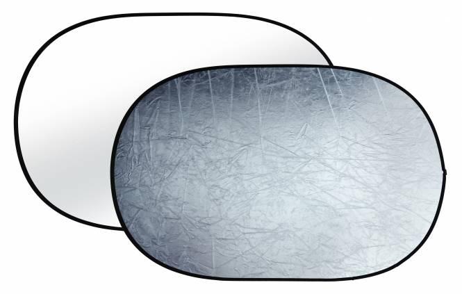 BRESSER BR-TR8 2-in-1 Faltreflektor silber/weiß 100x150cm
